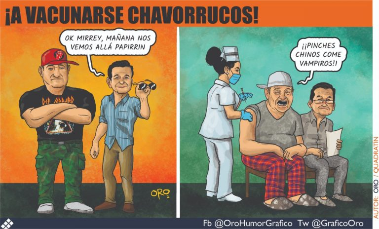 Caricatura #Oro | ¡A Vacunarse Chavorrucos!